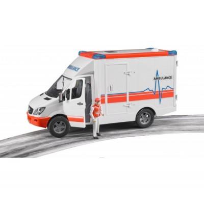 Sprinter скорая помощь с фигуркой водителя Bruder 02-536