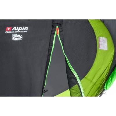 Батут Alpin 252 см с защитной сеткой и лестницей