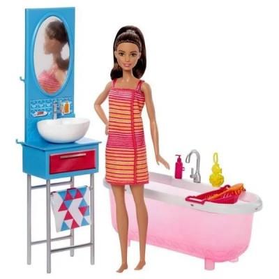 Barbie Ванная комната с куклой