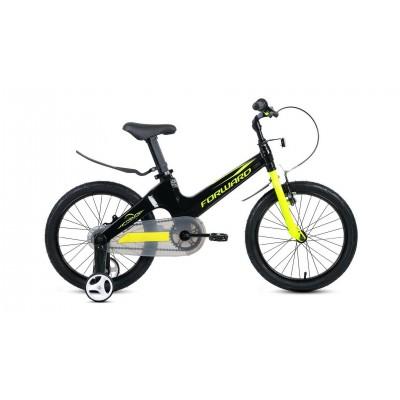 """Велосипед FORWARD 16"""" COSMO 2,0, 2019-2020, черный/зеленый, RBKW0LMG1014"""
