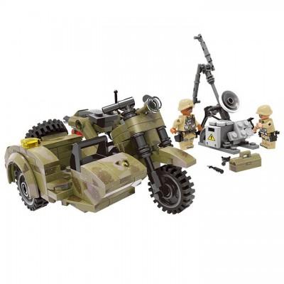 MOC Военный мотоцикл с коляской