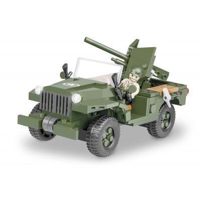 Конструктор Cobi Американский джип вооруженный 37-мм противотанковой пушкой