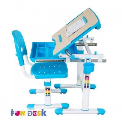 Детская парта-трансформер и регулируемый стул FunDesk Bambino Blue