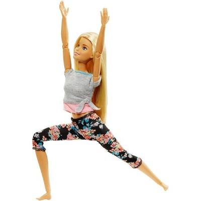 Кукла Барби Безграничные Движения Блондинка в цветочных штанах FTG81