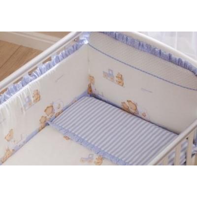 Комплект в кроватку Перина Тиффани Неженка голубая из 3-х предметов