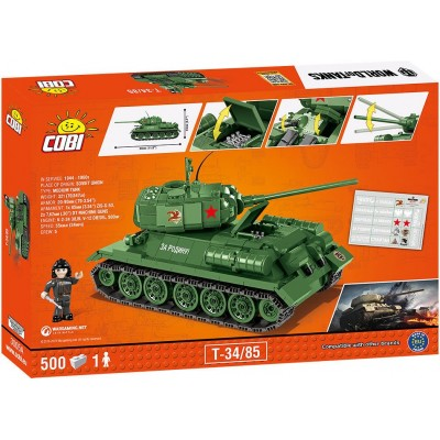 Конструктор Коби Танк Т-34/85 World of Tanks