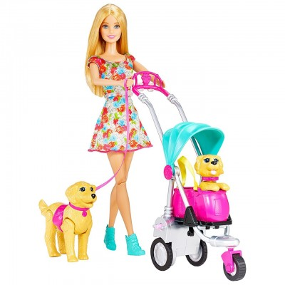 "Игровой набор Барби ""Прогулка со щенками"" CNB21"