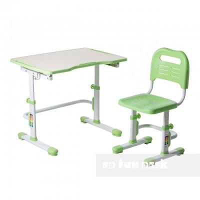 Детская парта и стул FunDesk Vivo II green