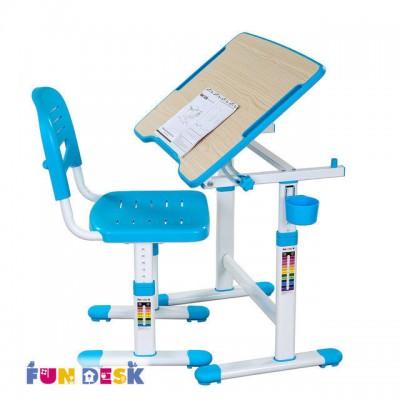 Детская парта растишка и стул FunDesk Piccolino II Blue