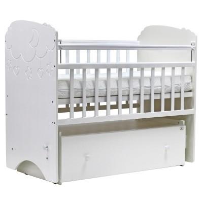 Детская кроватка с маятником Топотушки Софья Облака