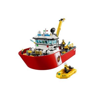 Lepin 02057 Пожарный катер (аналог Lego)