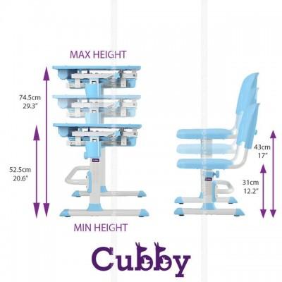 Комплект парта и стульчик CUBBY Karo Blue