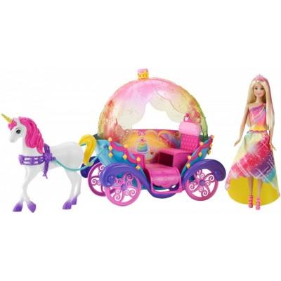 Игровой набор Барби Dreamtopia Радужная карета DPY38
