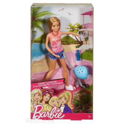 Кукла Барби Стейси на самокате DVX57