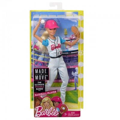Кукла Барби Бейсболистка Безграничные движения Barbie Made To Move FRL98