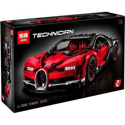 Lepin 20086b Bugatti Chiron красный (аналог Лего 42083)
