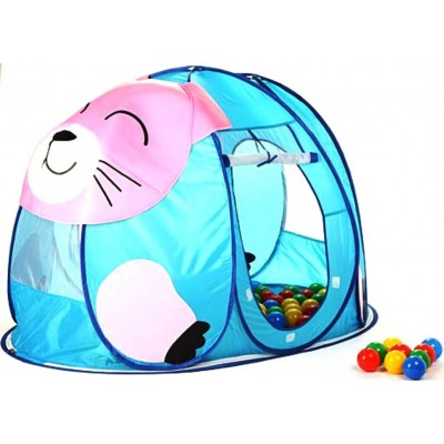 Детский домик-палатка + 100 шаров Calida котенок