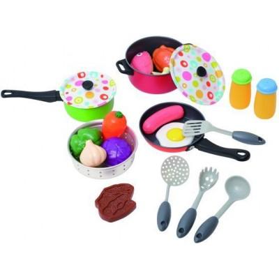 Металлический набор посуды с аксессуарами PlayGo