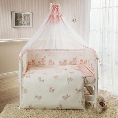 Комплект Перина Тиффани неженка розовая 7 предметов