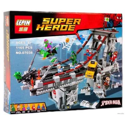 Lepin 07038 Дуэль воинов с сетями на мосту (аналог Lego 76057)