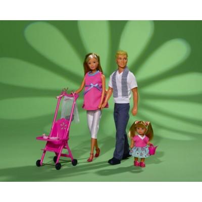 Беременная Штеффи с семьей Simba