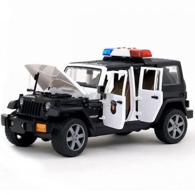 Полицейский внедорожник Jeep Wrangler Unlimited Rubicon с фигуркой Bruder (Брудер) 02526