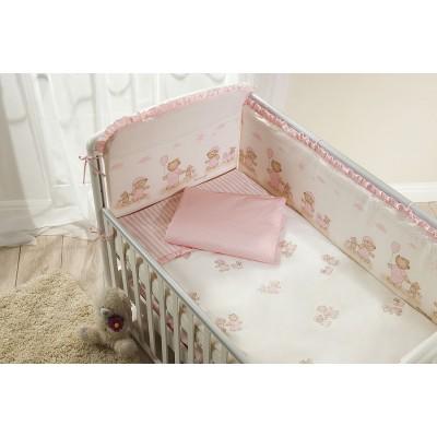 Комплект в кроватку Тиффани Неженка розовая из 10 предметов