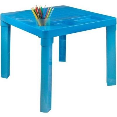 Детский пластиковый стол голубой