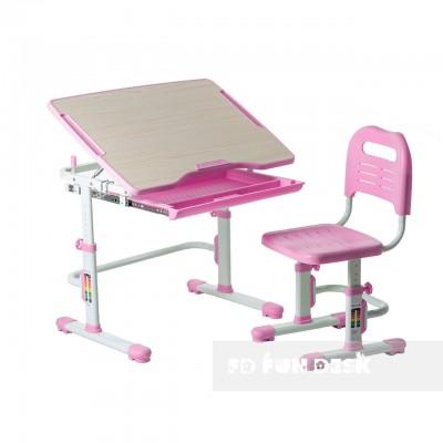 Детская растущая парта и стул-трансформер FunDesk Vivo Pink