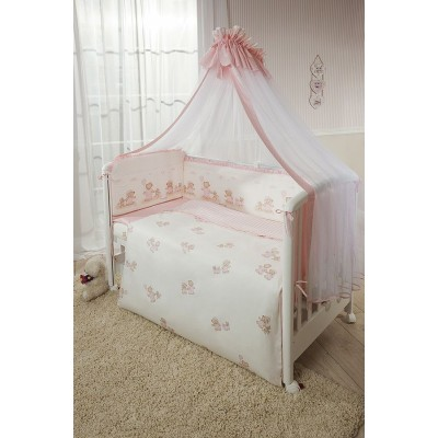 Комплект в кроватку Тиффани Неженка розовая из 9 предметов