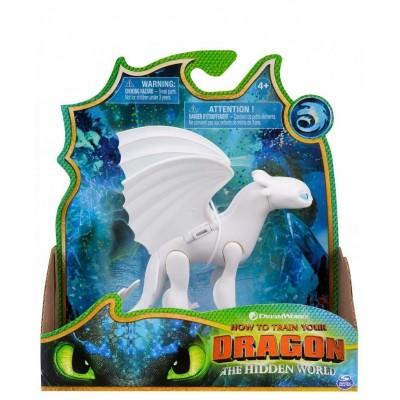 Фигурка дракона Белая фурия с подвижными крыльями