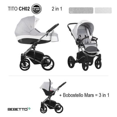 Детская коляска BEBETTO TITO PREMIUM CHANEL 2 в 1