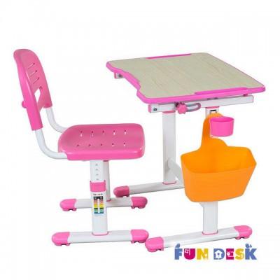 Детская парта и стул FunDesk Piccolino II Pink
