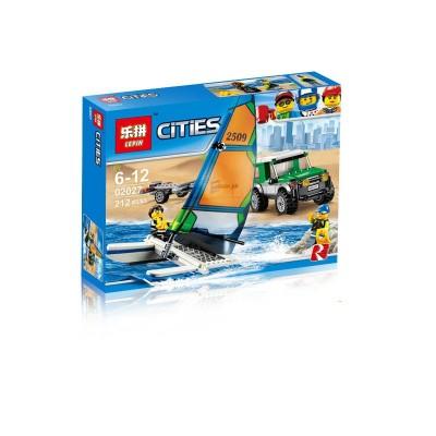 Lepin 02027 Внедорожник с прицепом для катамарана (аналог Lego 60149)
