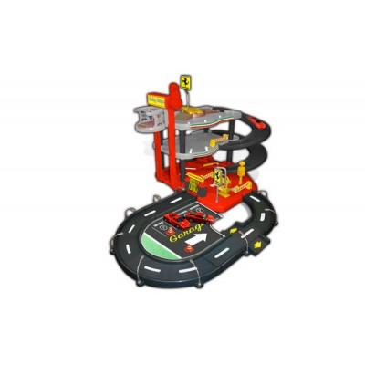 Паркинг Bburago 3х-уровневый с машинками Ferrari
