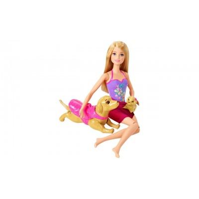 Набор с куклой Barbie Бассейн для щенков DMC32