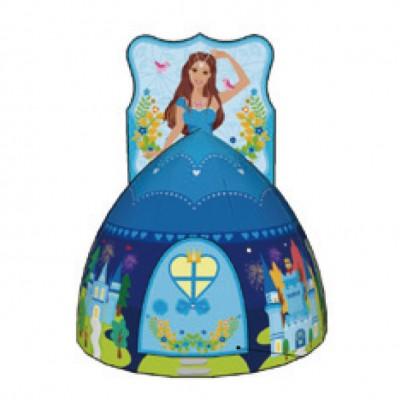 Детская игровая палатка-домик принцесса синяя Calida 772+ 100 шаров