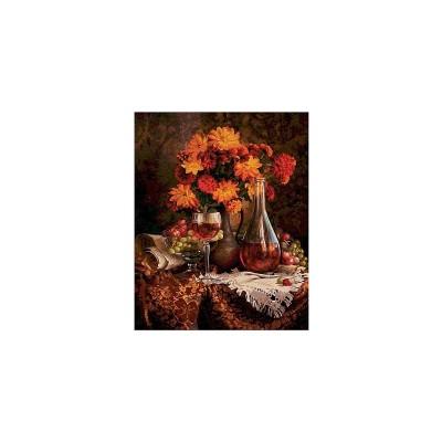 Картина для раскрашивания по номерам Астры 40х50 см