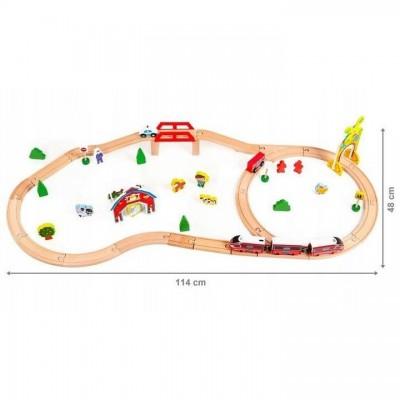 Деревянная железная дорога Eco Toys 53 элемента