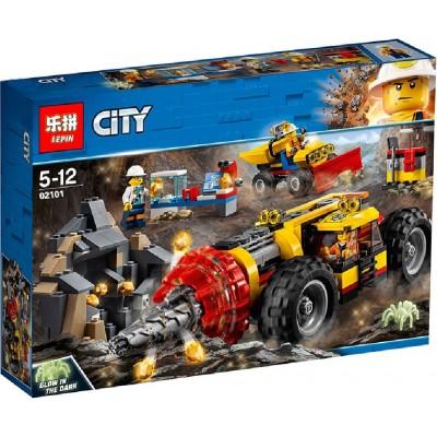 Lepin 02101 Тяжёлый бур для горных работ (аналог Lego 60186)