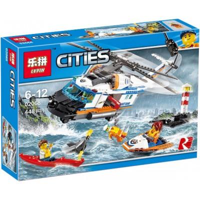 Lepin 02068 Сверхмощный спасательный вертолёт (аналог Lego 60166)