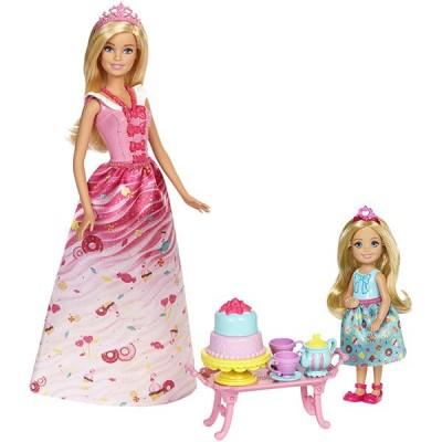 Игровой набор Барби и Челси чаепитие FDJ19