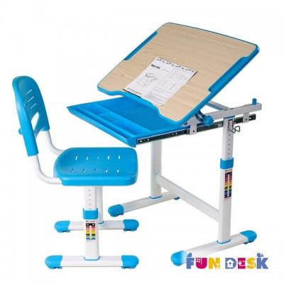 Детская парта и стул для дома FunDesk Piccolino Blue