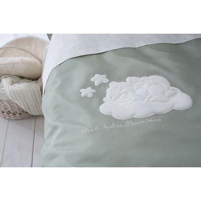 Комплект детского постельного белья в кроватку Бамбино Олива из 10 предметов