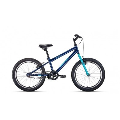 "Велосипед FORWARD 20"" ALTAIR MTB HT 1.0 1ck,2019-2020,(рама10,5)темно-синий/бирюзовый, RBKT01N01007"